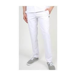 Pantalon médical blanc pour homme
