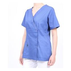 Blouse médicale bleue pour femme