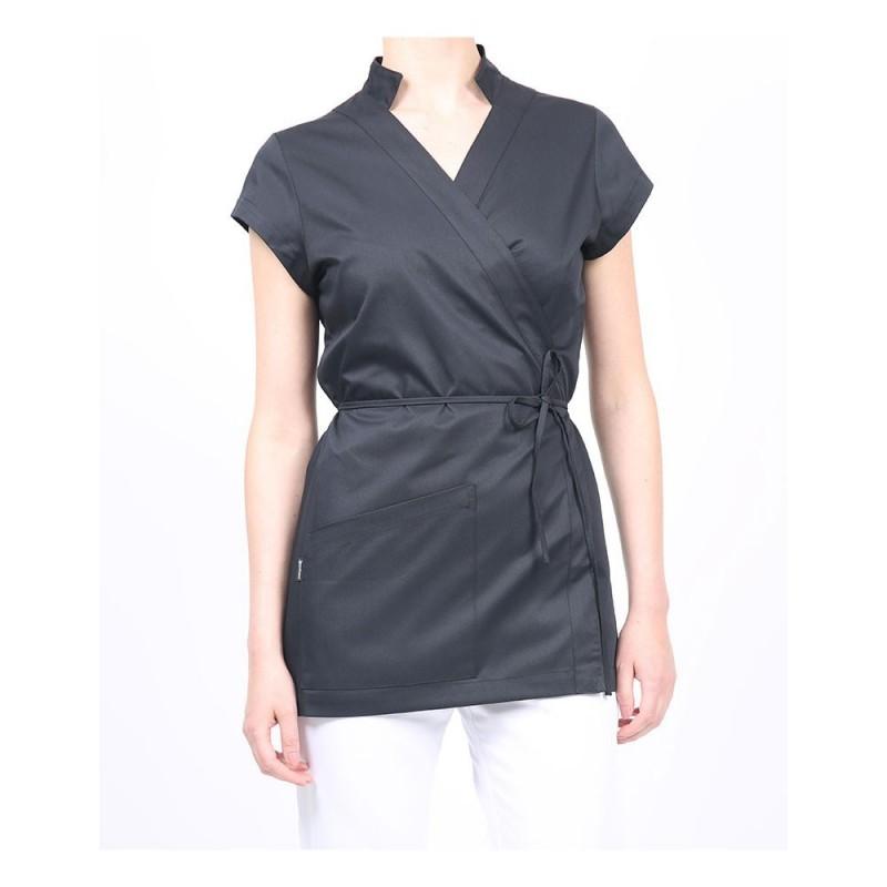 Blouse bien-être coupe cache-coeur - Vêtement professionnel  pas cher