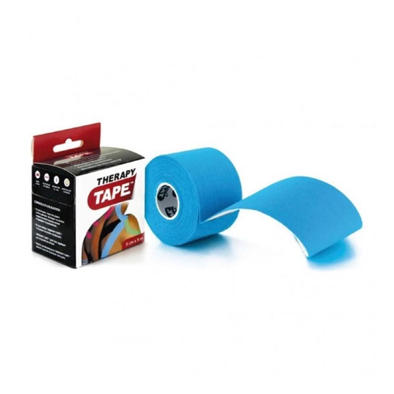 """Bandes de taping """"Therapy Tape"""" 5cm x 5m bleu"""
