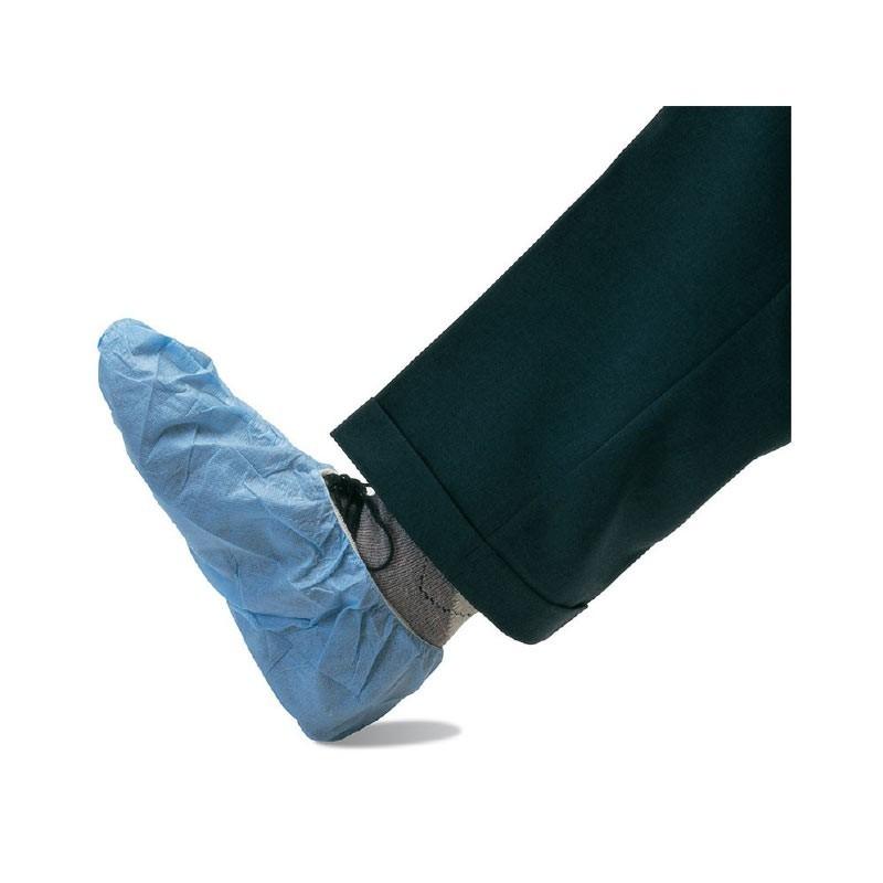 Sur-chaussures bleues non tissées à usage unique