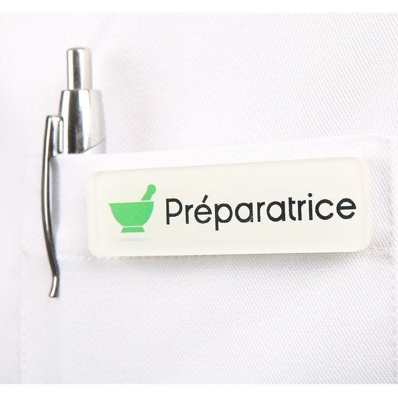 Badge magnétique de Préparatrice en Pharmacie