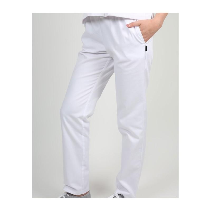 Pantalon médical blanc pour femme