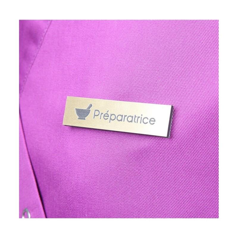 Badge magnétique de Préparatrice en Pharmacie - Or