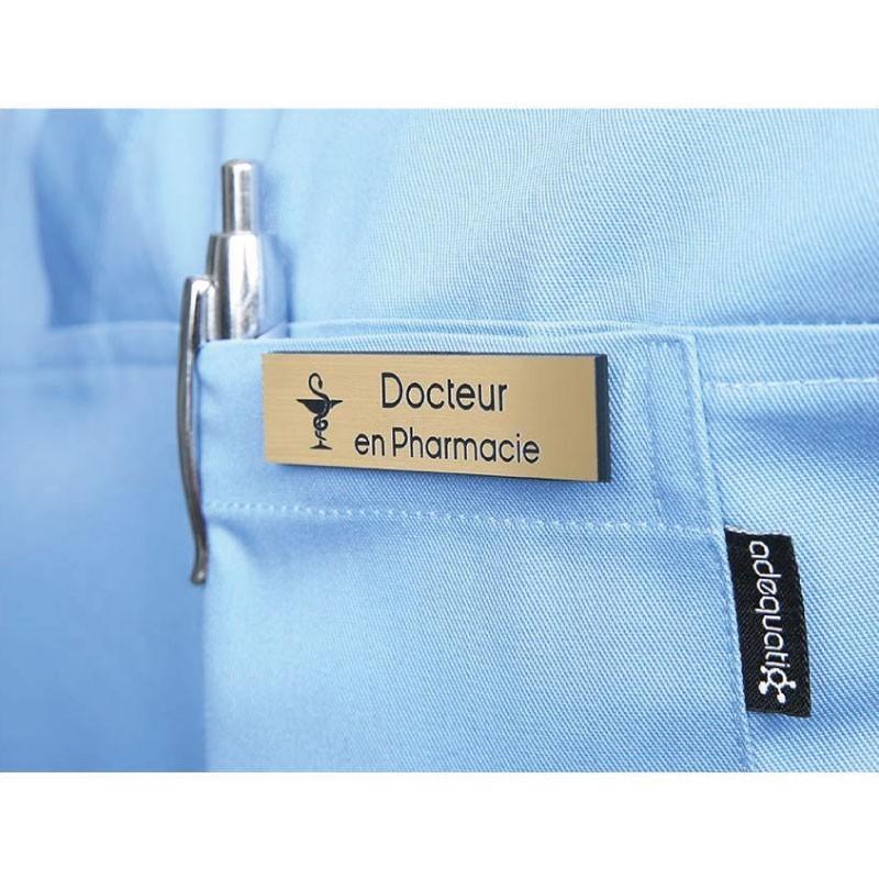 """Badge magnétique de Docteur en Pharmacie """"Or"""""""