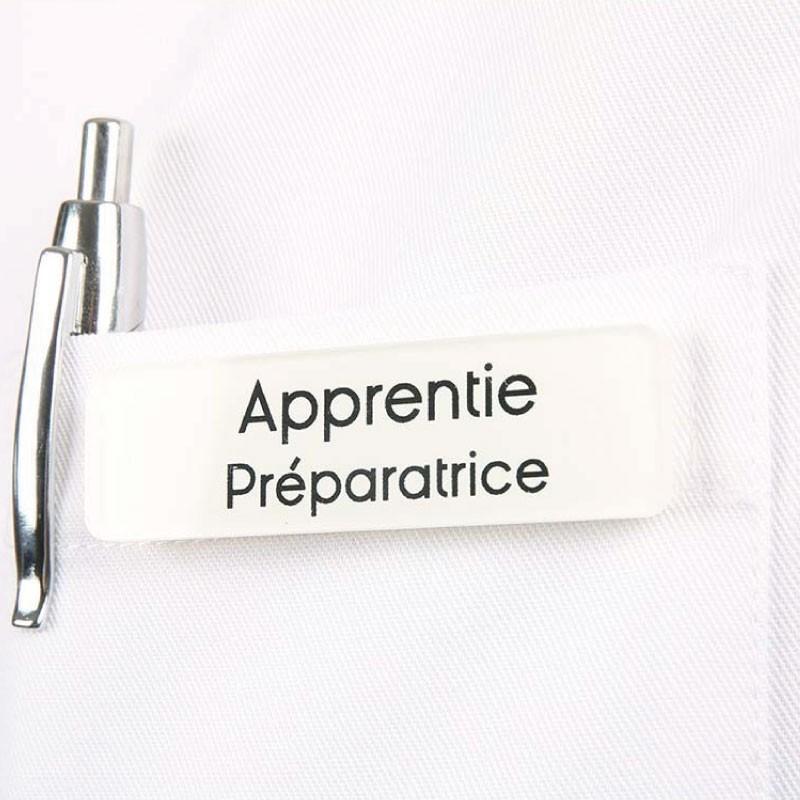 Badge magnétique d'apprentie Préparatrice en Pharmacie