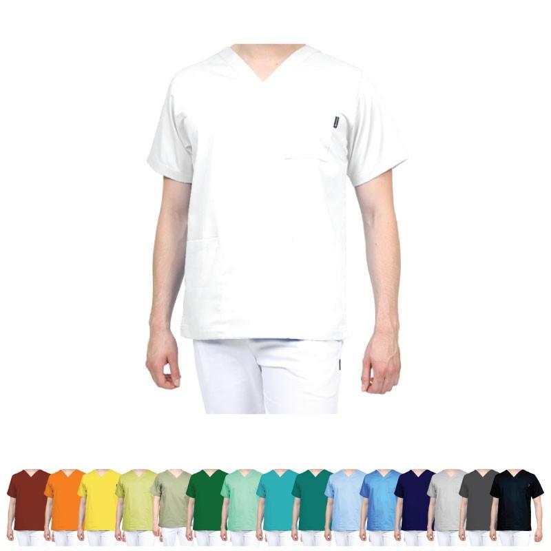 Tunique médicale grise pour homme - Vêtement Professionnel