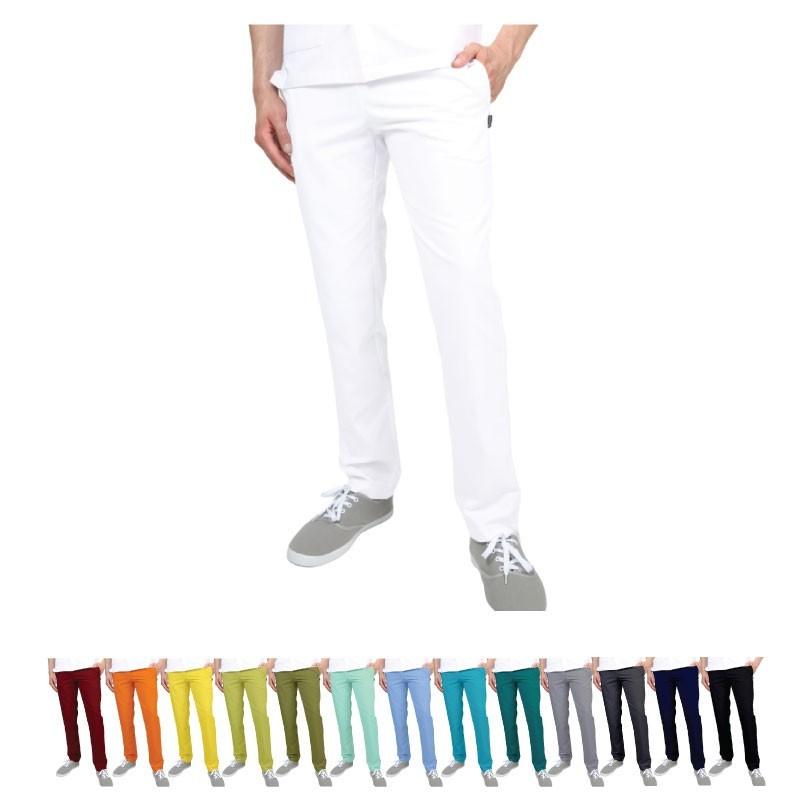 Pantalon médical blanc pour homme - Vêtement professionnel