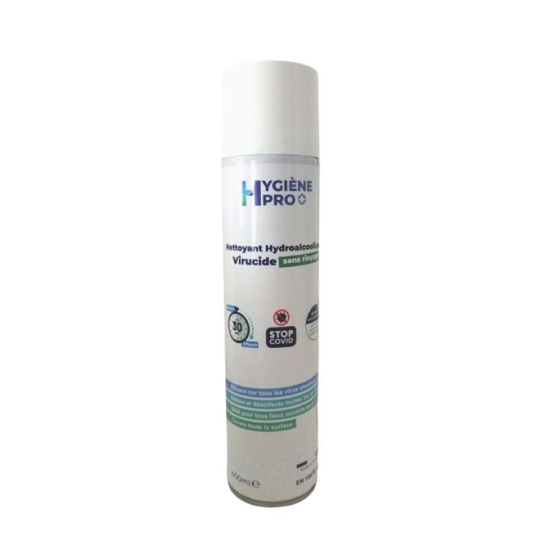 Bombe aérosol nettoyant hydroalcoolique virucide - 400 ml
