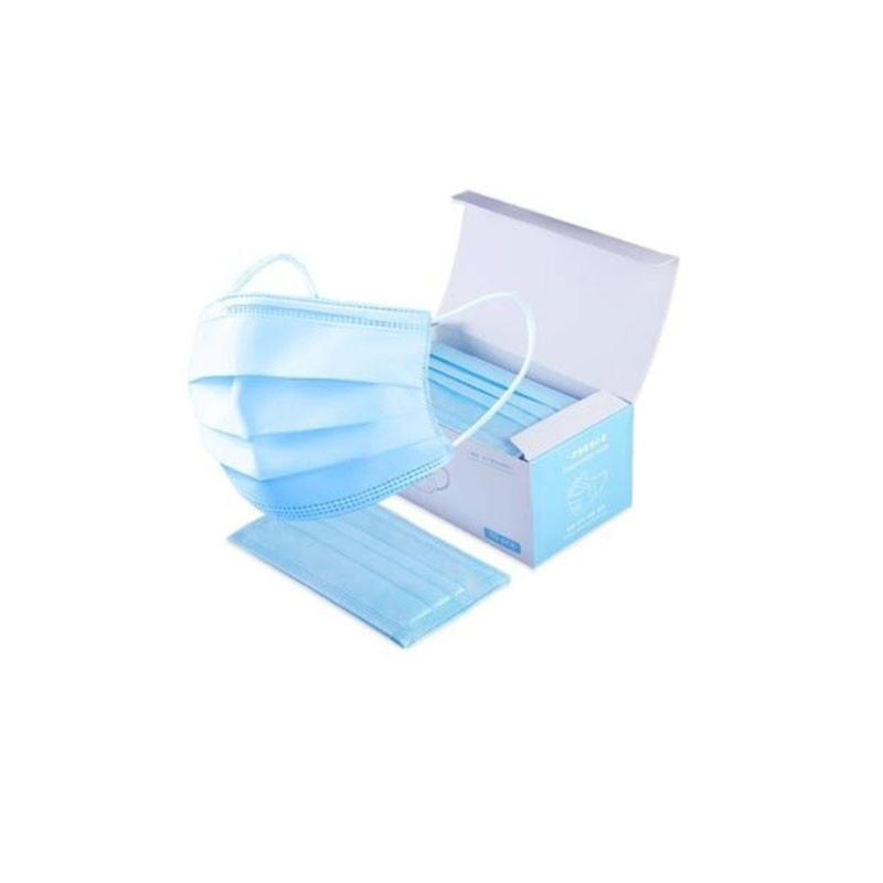 Masque 3 plis chirurgical à élastiques - Boîte de 50 - Certifiés CE