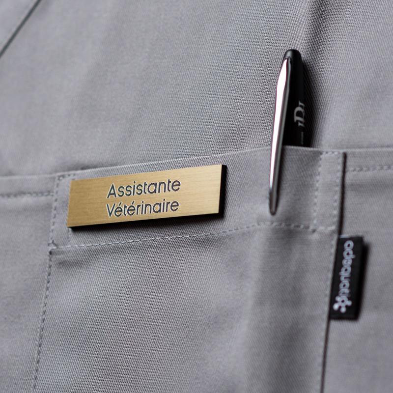 Badge magnétique d'assistante vétérinaire - Or