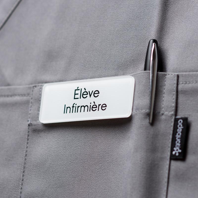 Badge magnétique d'élève infirmière - Blanc