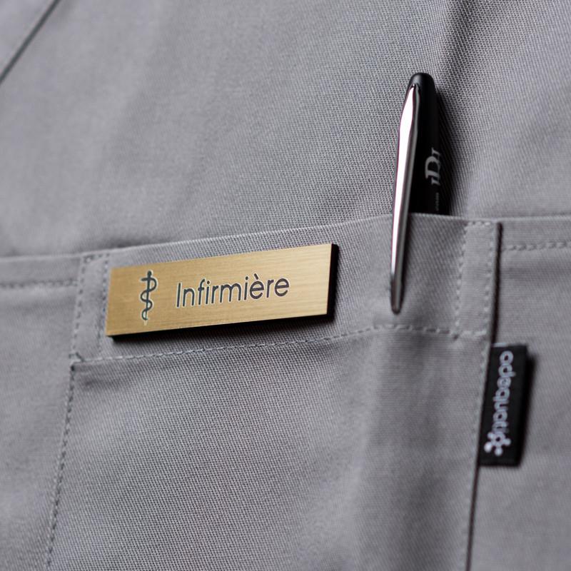 Badge magnétique d'infirmier ou infirmière - Or