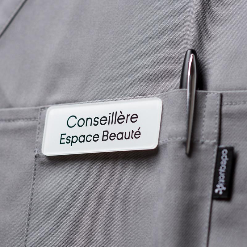 Badge magnétique de conseillère beauté - Blanc