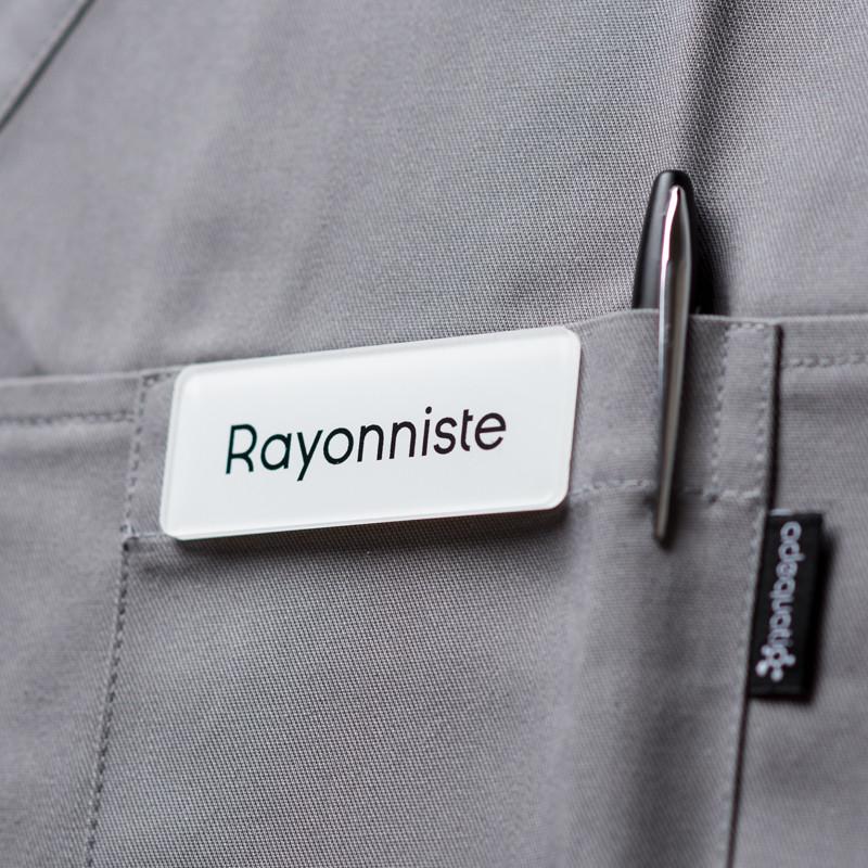 Badge magnétique de rayonniste - Blanc