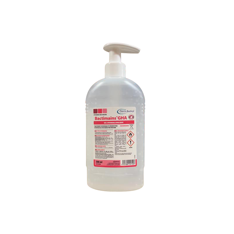 Gel Hydroalcoolique à pompe BACTINYL - 500 ml ou 1L