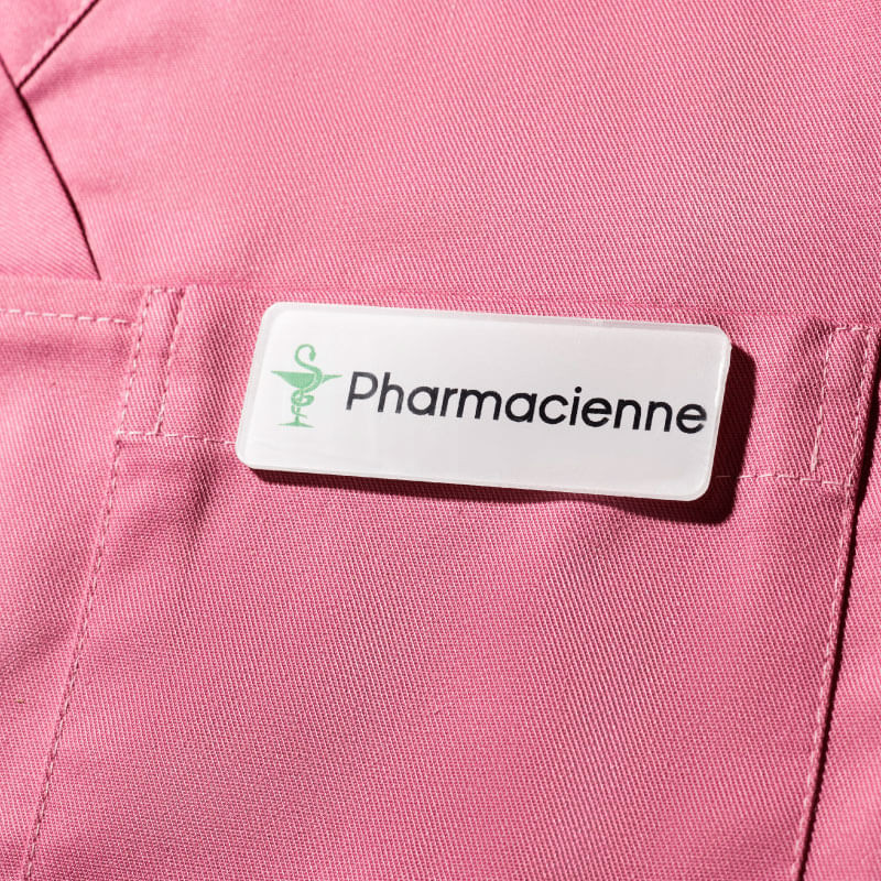 Badge Blanc   Badge Magnétique de Pharmacienne   Express 24h