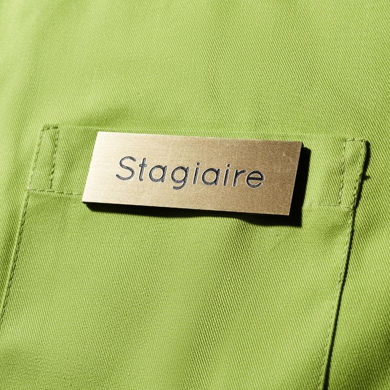 Badge Aimanté | Badge Magnétique Stagiaire Or | Express 24h