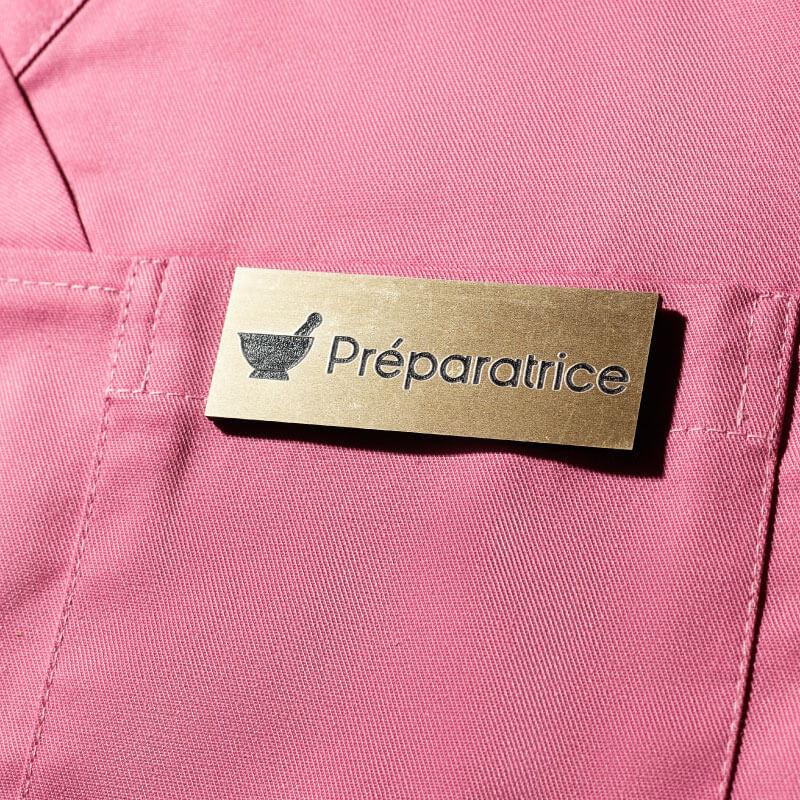 Badge Médical Doré   Badge Aimanté Préparatrice ou Préparateur   Express 24H