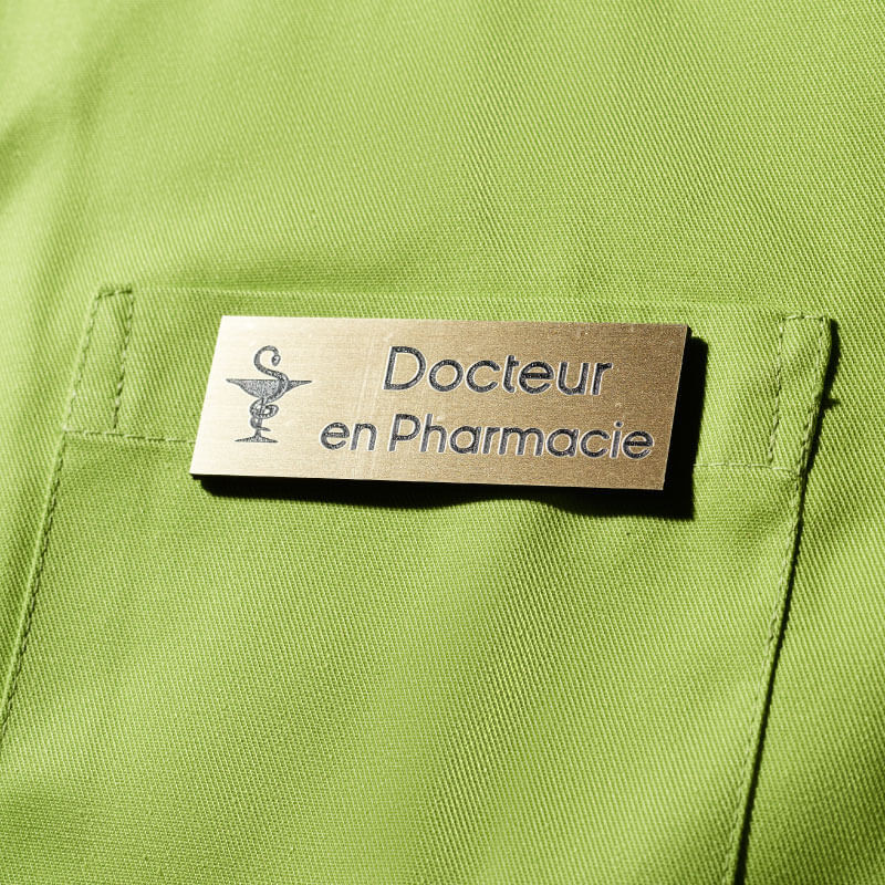 Badge Magnétique   Badge de Docteur en Pharmacie Or   Express 24h