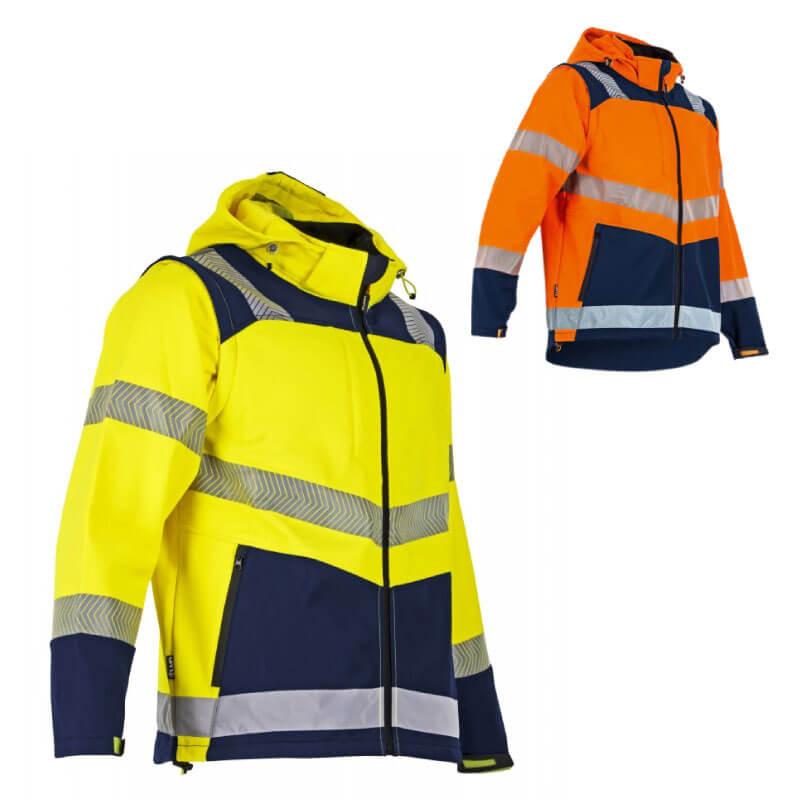 Veste de travail softshell haute visibilité VISEUR LMA | Vêtement de travail à poches multiples