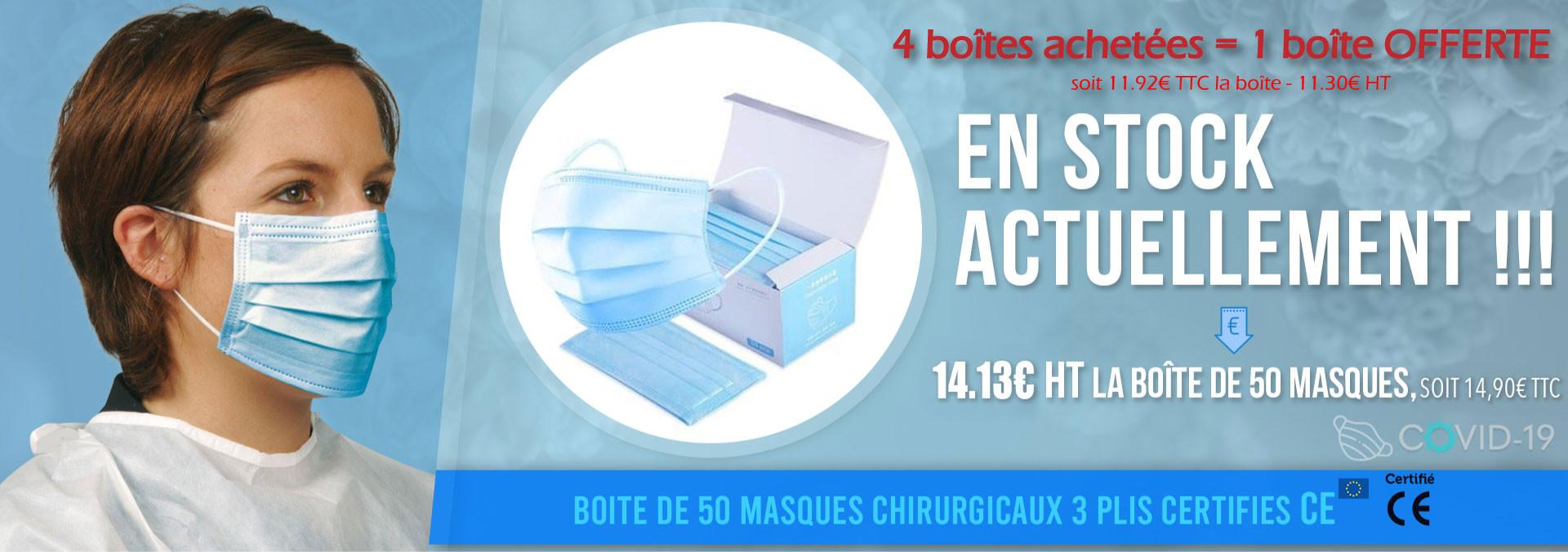 Boîte de 50 masques de protection COVID-19